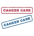 Cancer Care Rubber Stamps vector image vector image