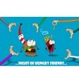 cartoon fast food vector image vector image