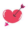 colorful arrow design inside heart love icon vector image vector image