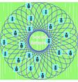 conceptual representation of the social network vector image vector image
