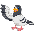 Cute Pigeon bird presenting isolated vector image vector image