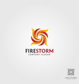 fire storm logo template vector image vector image