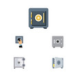 flat icon safe set of closed locked coins and vector image vector image