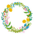 flowers set beautiful wreath elegant vector image vector image