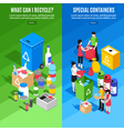 Garbage Recycling Vertical Banners vector image vector image