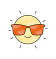 Grated happy and cute sun kawaii with sunglasses