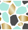 green gold gray abstract geometric pattern vector image vector image