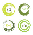 green set with circle brush strokes for frames vector image