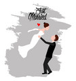 groom and bride just married couple vector image