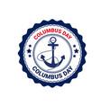 happy columbus day national usa holiday greeting vector image