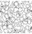 hibiscus seamless pattern vector image