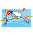 high jump sportsman cartoon vector image vector image