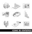 Icon Set Statistics 3D vector image