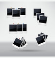 isolated photo frames on white background vector image vector image