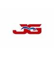 JG Logo Graphic Branding Letter Element vector image vector image