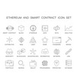 line icons set ethereum and smart contract pack vector image vector image