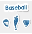 logo baseball on a light background vector image