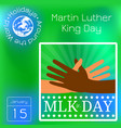 martin luther king day multicolored hands reach vector image vector image