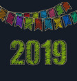 new year background 2019 vector image vector image