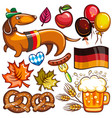 oktoberfest set of icons and objects vector image vector image