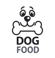 Pet food logo with dog icon concept of veterinary vector image vector image