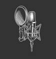 podcast retro microphone vector image