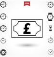 pound icon vector image vector image