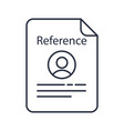 reference letter color icon recommendation letter vector image vector image
