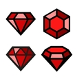 Ruby icons set vector image vector image