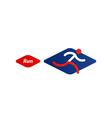 Running logo sport event icon vector image