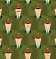 Russian military officers seamless pattern Army vector image vector image