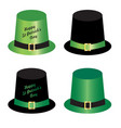 saint patricks day hats vector image vector image