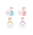 sale delete user and group icons helicopter sign vector image vector image