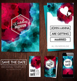 Save the date for personal holiday Set of wedding vector image vector image