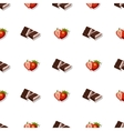 Seamless Pattern Chocolate Strawberry vector image vector image
