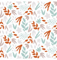 seamless pattern with leaves abstract print vector image vector image