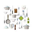 set of cooking utensils vector image