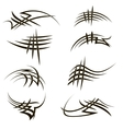 Set of Different Tribal Tattoo Design vector image vector image