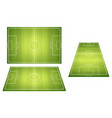 set of football soccer fields vector image