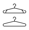 Set of two coat hanger icons Clothes hanger icon vector image vector image