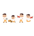 set young japanese boy playing toy vector image vector image
