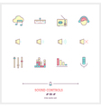 Sound Controls Line Icons Set vector image vector image