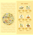 spa salon menu card set of cute various spa icon vector image