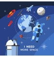 Space Concept Poster vector image vector image
