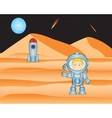 Spaceman on mars vector image