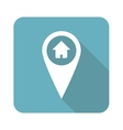 Square house pointer icon vector image