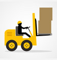 stick figure driving a forklift vector image vector image