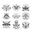 Street Outlaw Criminal Club Black And White Sign vector image vector image