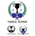 Table Tennis emblem vector image