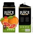Template Packaging Design Grapefruit Juice vector image vector image